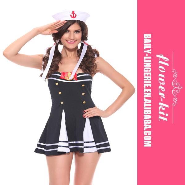Sexy Sailor Anchor Girl Navy Uniform Halloween Costume