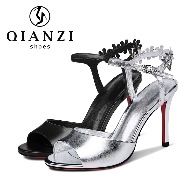 7616 Online sale new arrival ladies black leather most comfortable sandals summer shoes for women