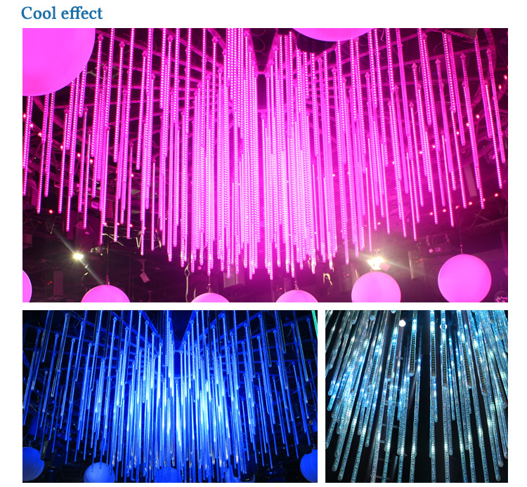 decorative hanging waterfall effect led falling star tube light buy hanging led tube light. Black Bedroom Furniture Sets. Home Design Ideas