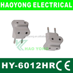 Euro type 2 pin electric plug and adapter
