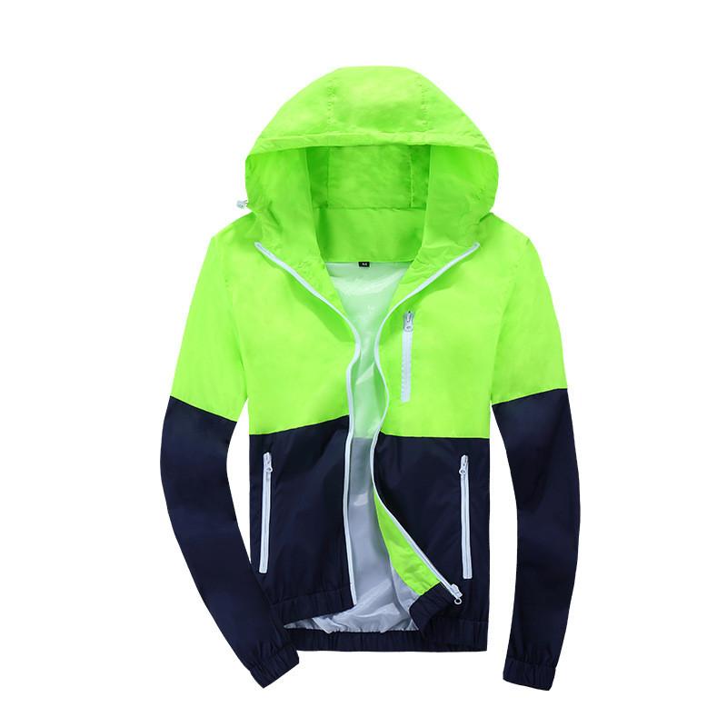 2020 Spring Autumn Fashion Windbreaker Jacket Men's Hooded Casual Jackets Male Coat Thin Men Coat Outwear