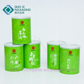 Food Grade Tea Packaging With Aluminum Easy Open Lid Container ...