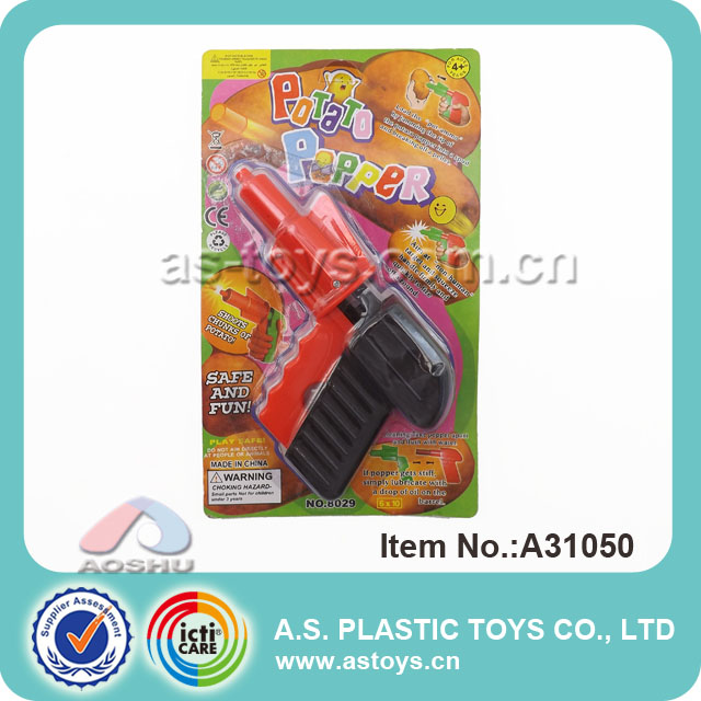 wholesale cheap indoor play plastic spud kids toy gun with high quality