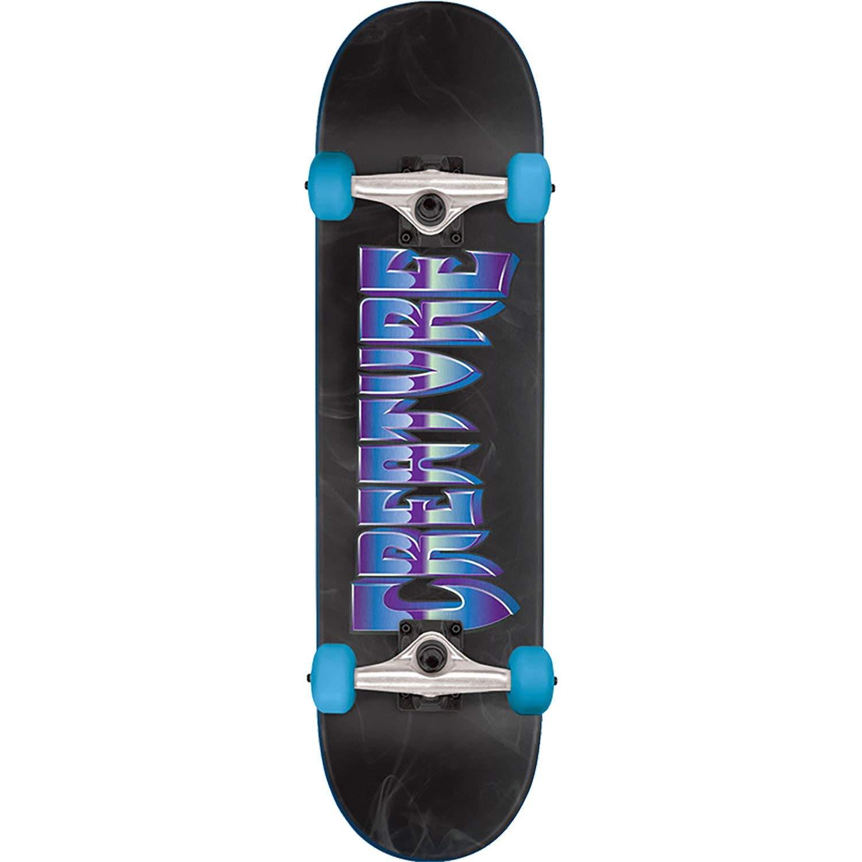 "Creature Skateboards Chrome SM Black/Blue/Purple Complete Skateboard - 7.75"" x 31.4"""