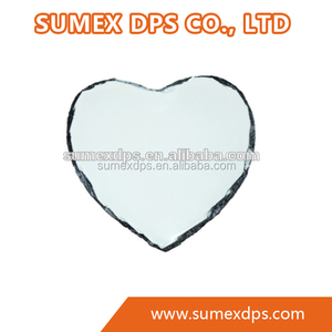 Sublimation Blank Printable Photo Slate Rock Stone 20*25 Heart Shaped