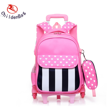 384e11662d Online Shopping Bag Colorful Little Girl Pink GPS Tracking Trolley School  Bag