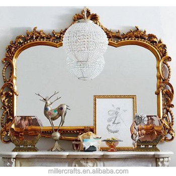 European Style Resin Antique Gold Carving Classic Mirror Frame - Buy ...