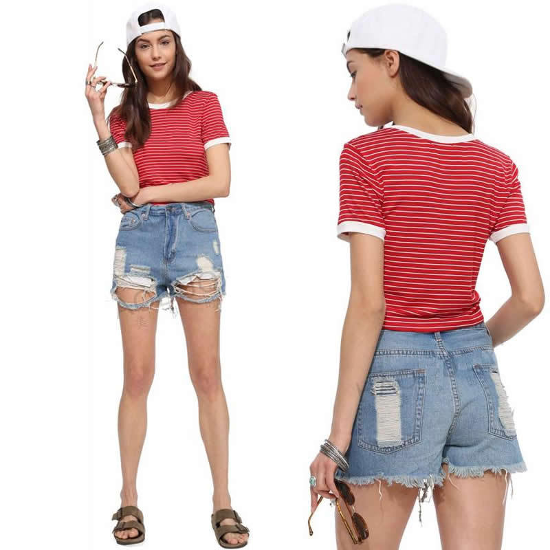 Cheap Red White Striped Top Women, find Red White Striped Top ...