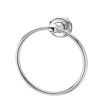 Shining stylish round towel ring for bathroom