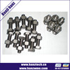 Black anodized pan head titanium screw