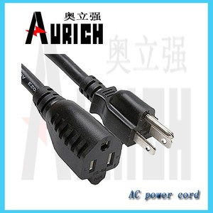 China supplier,UL approval NEMA 5-15P,110V 3 Prong power cable,wireless extension cord