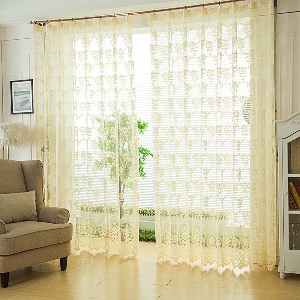 Buy Uphome 57 X 83 Inch145 X 210 Cm Popular Lace Window Screen