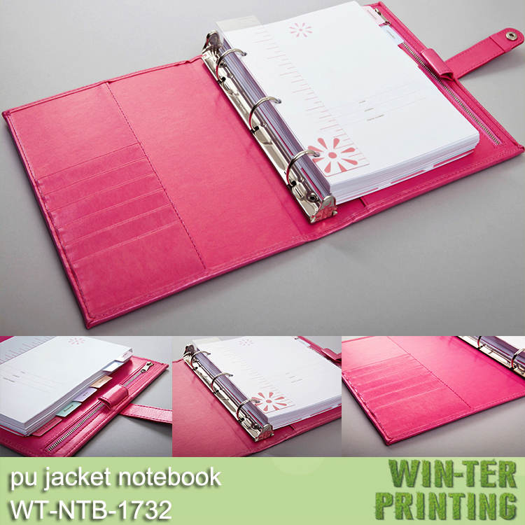 Wt-ntb-1732 Professional Ring Binder Notepad With Calendar