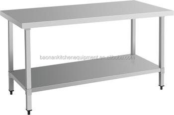 stainless steel work bench kitchen food prep catering table - Stainless Steel Prep Table