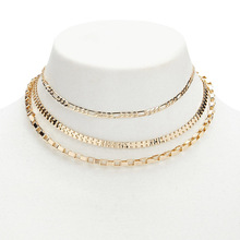 New gold plated multilayer chain statement necklace for women wholesales N800283
