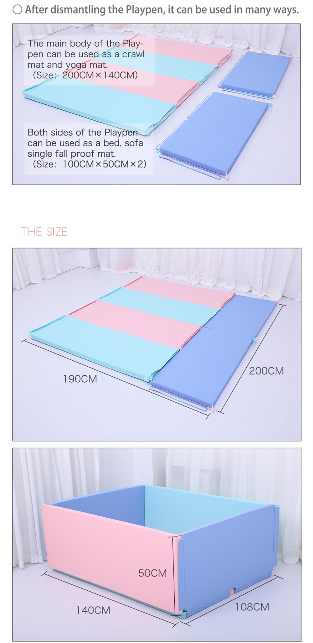 2019 חדש תינוק לשחק מרובע חצר לול/זוחל מתקפל מחצלת עם צפיפות גבוהה XPE קצף