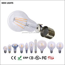 CE ROHS approved dimmable edison style led A60 6w 2700k filament light bulb