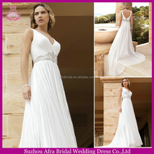 SD1068 backless chiffon beach wedding dress vestidos novia 2015 wedding dresses pictures