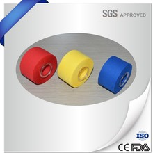 China manufacture colored athletic adhesive latex free sport tape