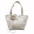 M6637-1 White ivory floral embroidered drawstring bag wedding flower girl
