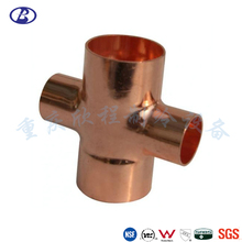 Refrigeration Copper Pipe Fitting Reducing Straight Elbow Tee Cross Fitting