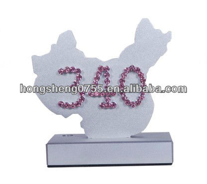 metal Table Tent Number display stand