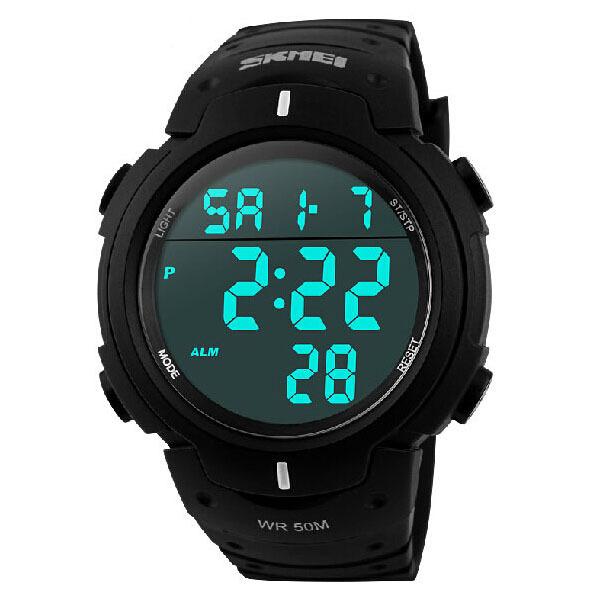 marke skmei digitale uhren jungen armbanduhr milit r 50 wasserdicht reloj. Black Bedroom Furniture Sets. Home Design Ideas