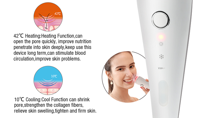 Skin Tighten Wrinkle Remove Hot and Cool Red Blue Photon LED Light Vibration Beauty Machine