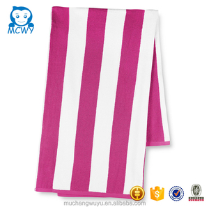 2017 Stripe cotton quotes lots fitted pink beach towel lounge chair cover