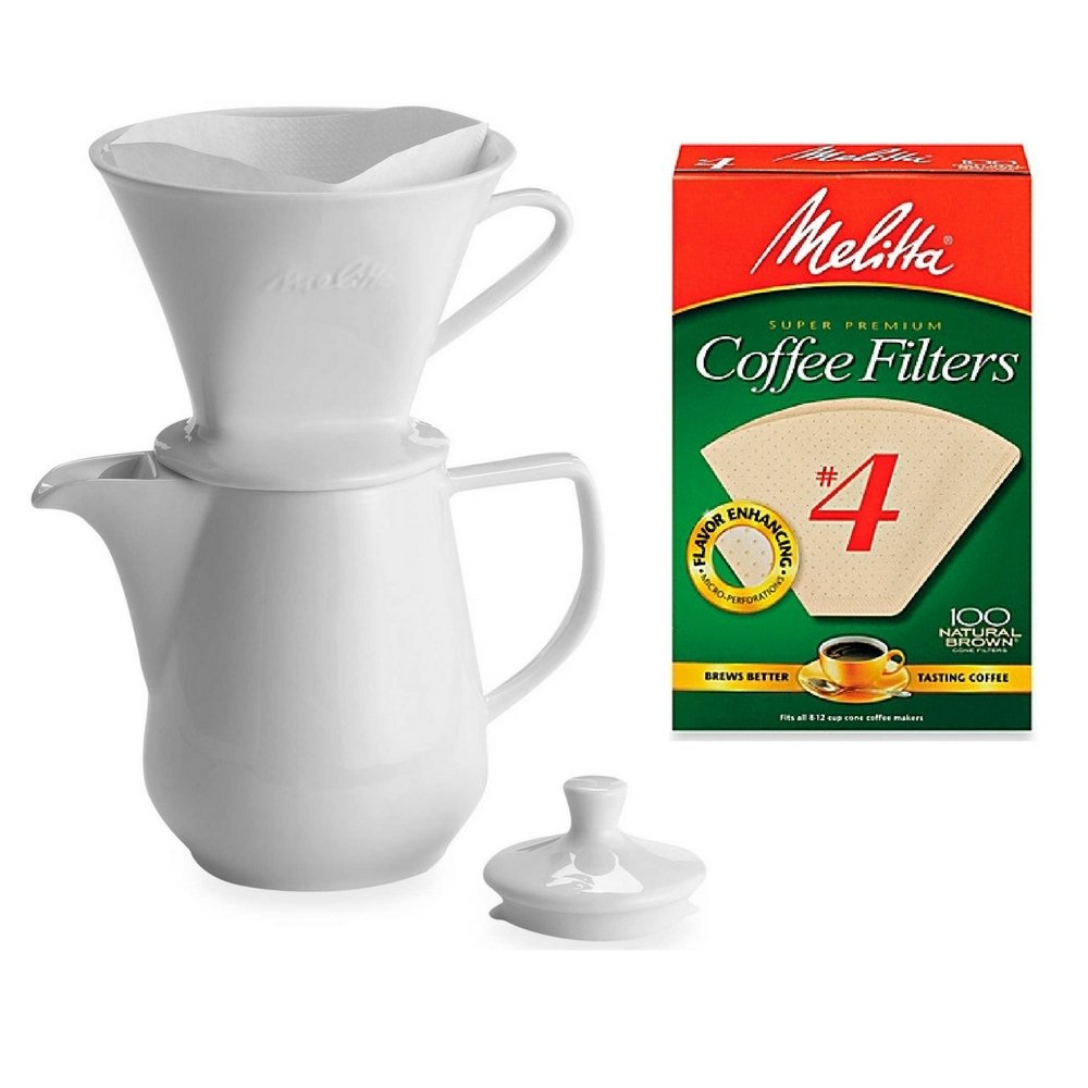 Natural Brown 100 Count Melitta Number 4 Coffee Filters