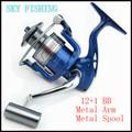 2016Hot Super Allblue Technology Fishing Reel 12BB 1 Bearing Balls 1000 7000 Series ABJF Spinning Reel