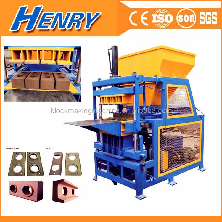 HR4-14 ISSB interlocking brick molding machine high efficient clay earth block machine