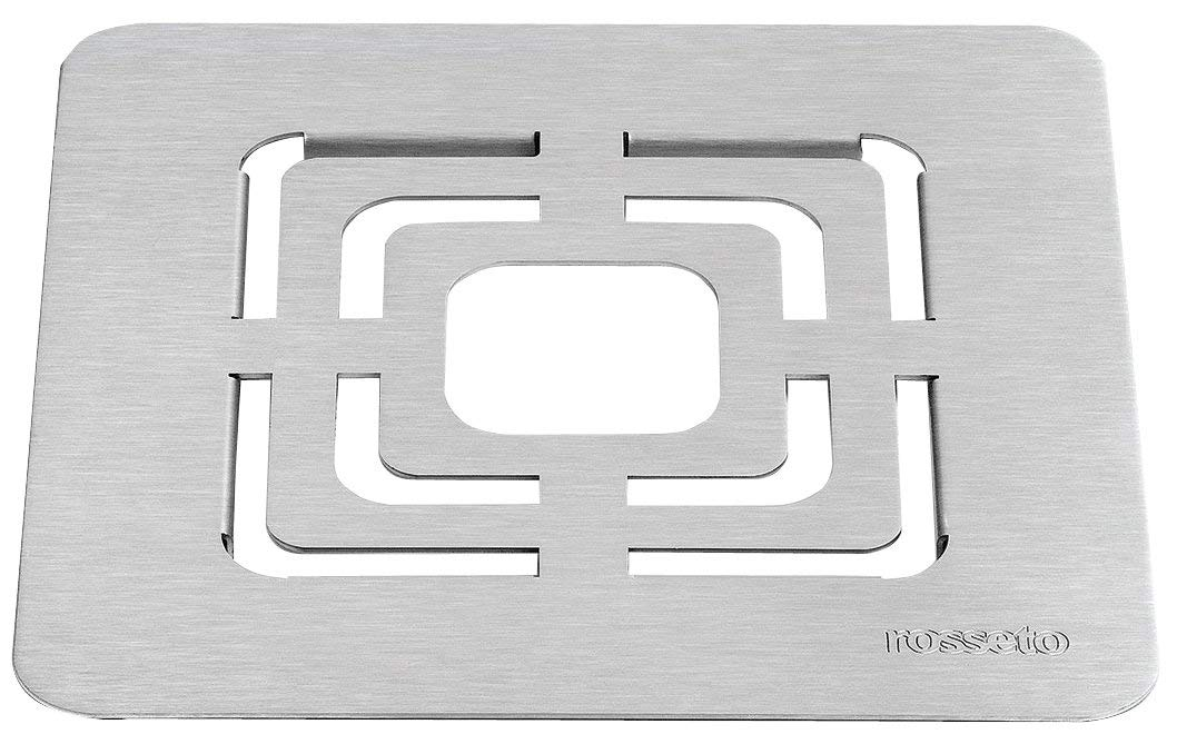 Rosseto SM139 Square Stainless Steel Brushed Grill Top, 10-Inch