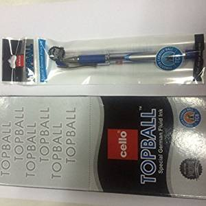 10 X Cello Topball PEN Top Ball Point Smooth Writing Blue Brand Ad By Indian Cricketer Mahindera Singh Dhoni 10 Pens Lot