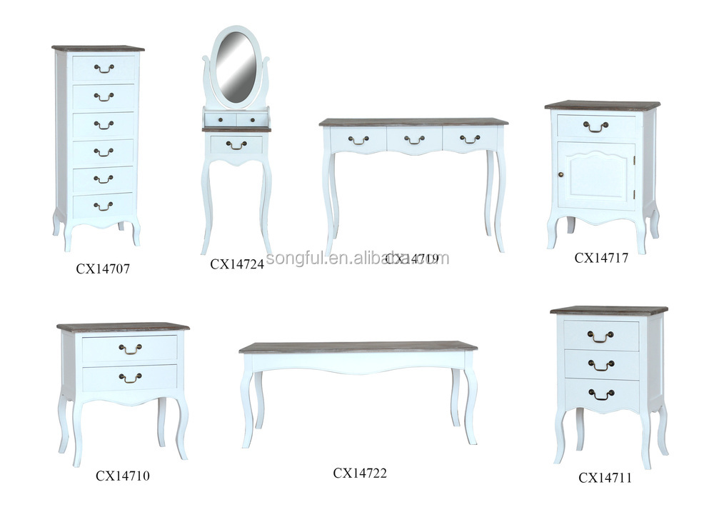 North Europe Design Furniture Antique White Living Room Console Tables