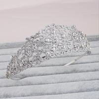 bridal wedding tiara Bling Jewelry Heart Rhinestone Crystal Bridal Crown Tiara crown tiarasreal diamond crowns and tiaras