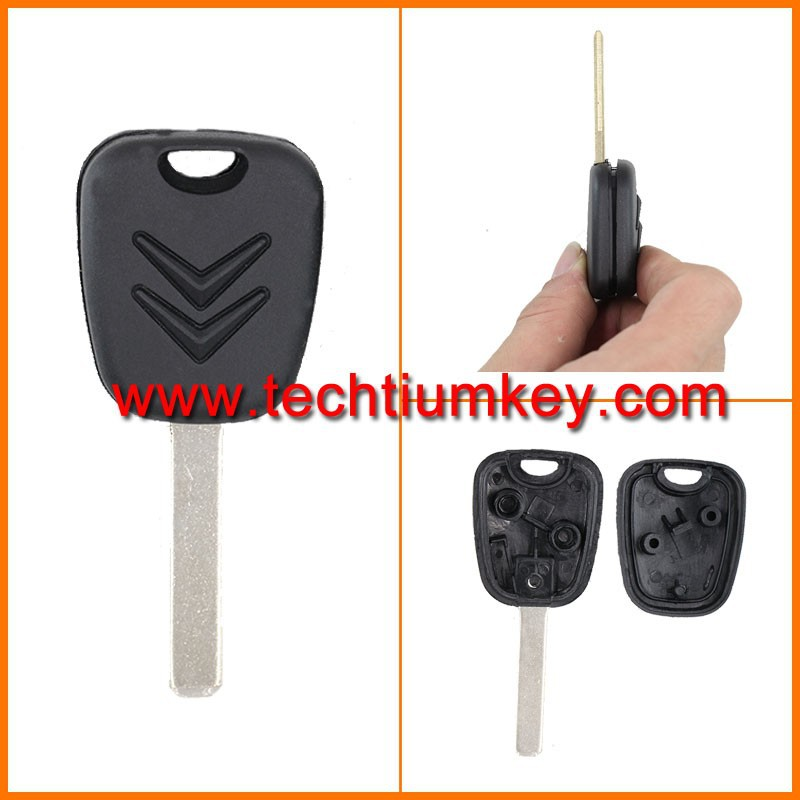 Key covers wholesale for Citroen transponder blank key shell case for Citroen c3 c4 picasso with 407 HU83 balde