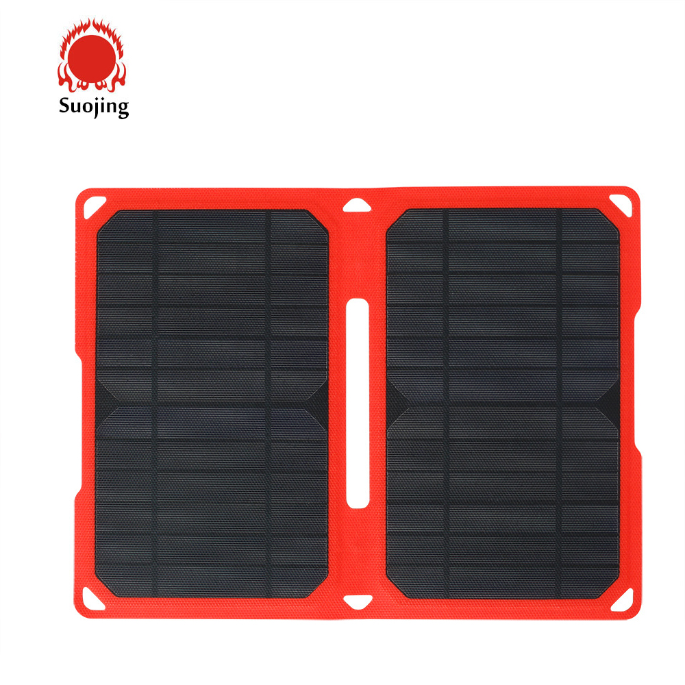 14W Solar Portable Charger Solar Cell Phone Charger for Mobil and Tablet