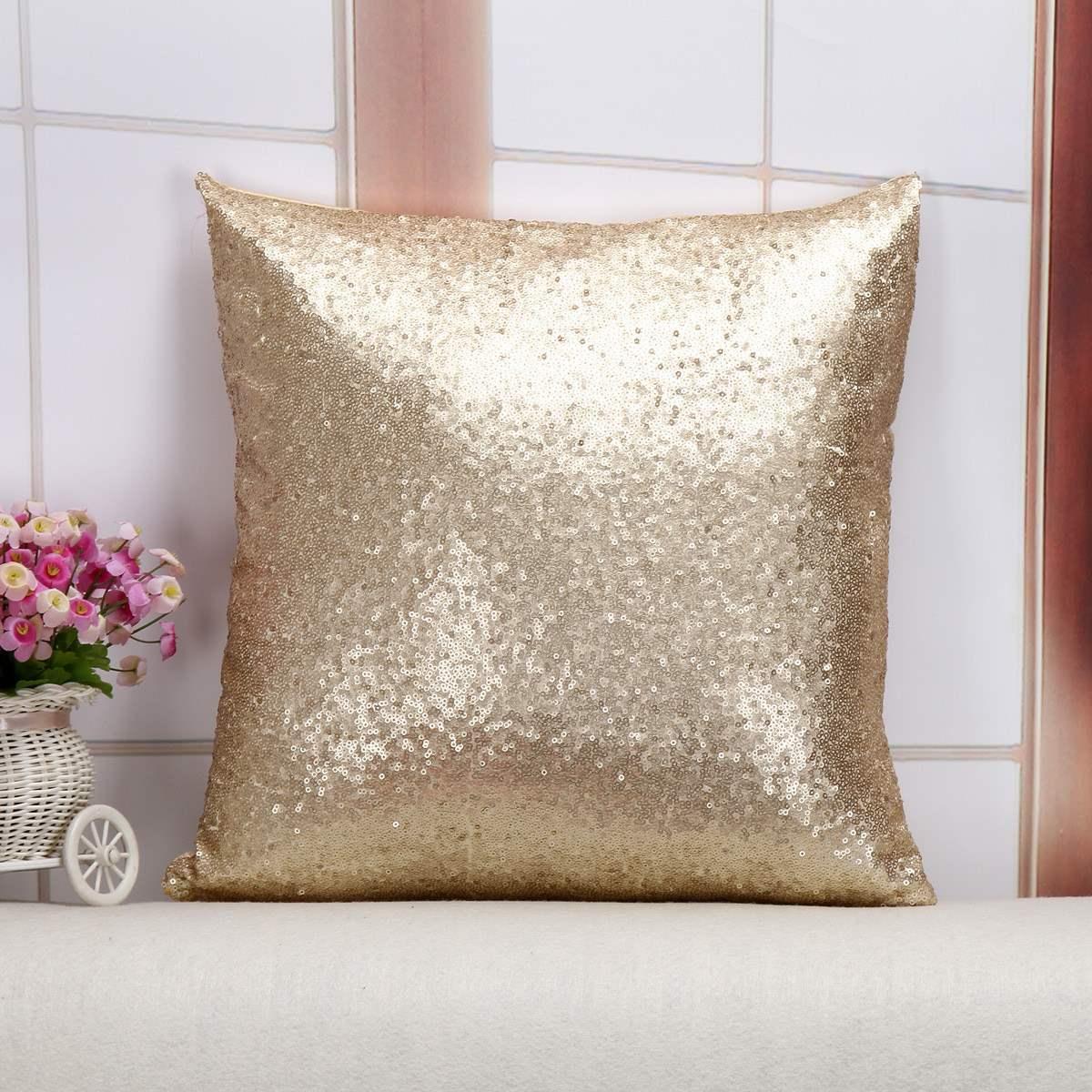 or sequin oreiller promotion achetez des or sequin oreiller promotionnels sur. Black Bedroom Furniture Sets. Home Design Ideas