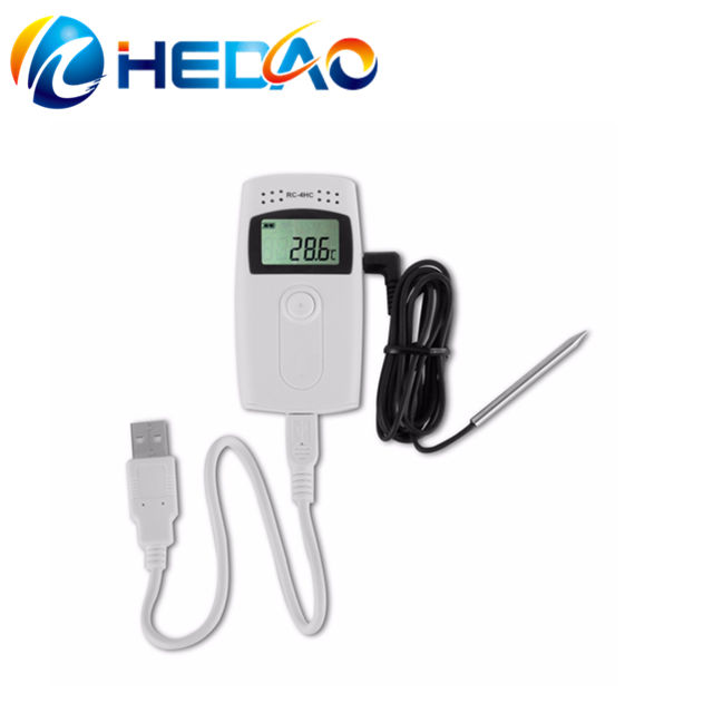 Datalogger Temp Recorder High Accuracy 16000 Points USB Temperature Data logger