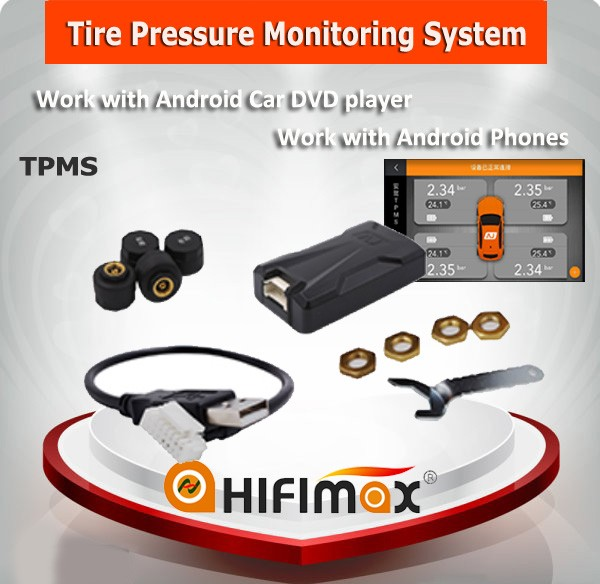 Hifimax tpms for android phone Android TPMS (Tire Pressure Monitoring System)-Compatible with Android Car DVD player
