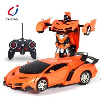 Wholesale 1/18 scale model kids change toy remote control robot car