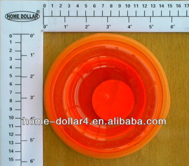 novelty plastic foldable silicone with TPR on the bottom ring plastic pet bowl