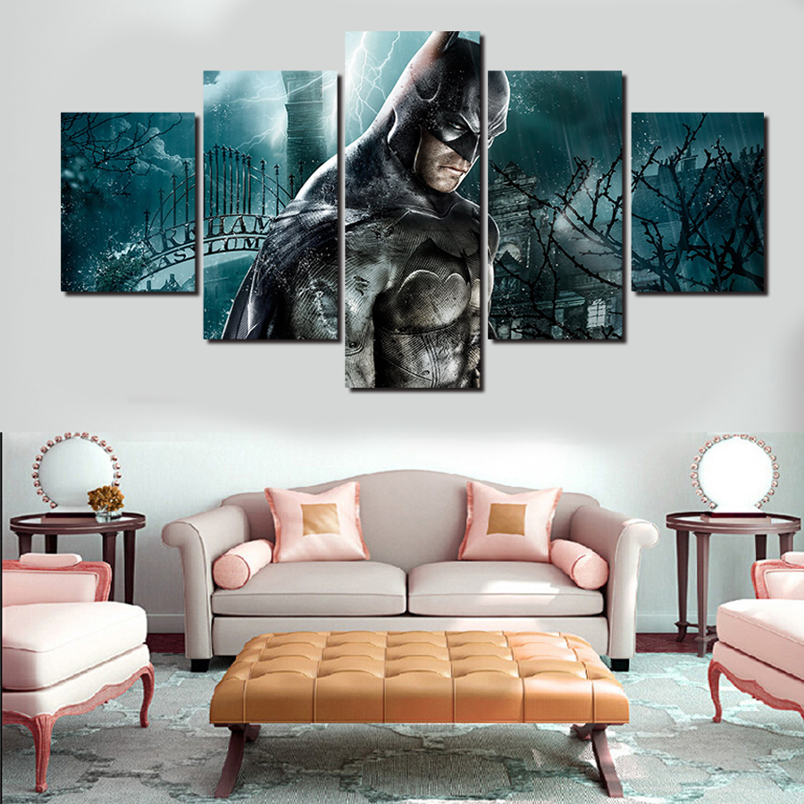 2016 Real Hot Sale Paintings 5 Pcs Frames Wall Art Picture Modern Home Decoration Living Room Or Bedroom Canvas Print Painting