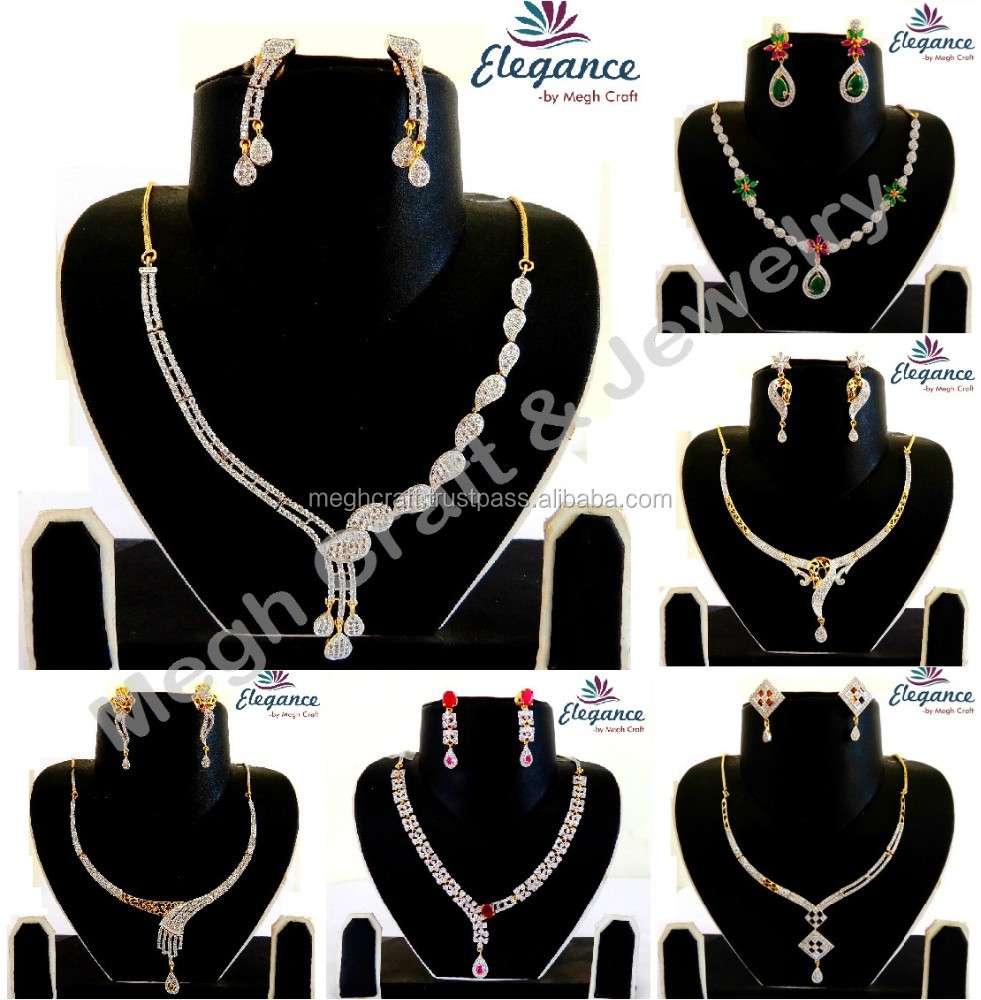 detail necklace jewelry buy product wholesale jewellery bridal artificial cz diamond american online indian designer set