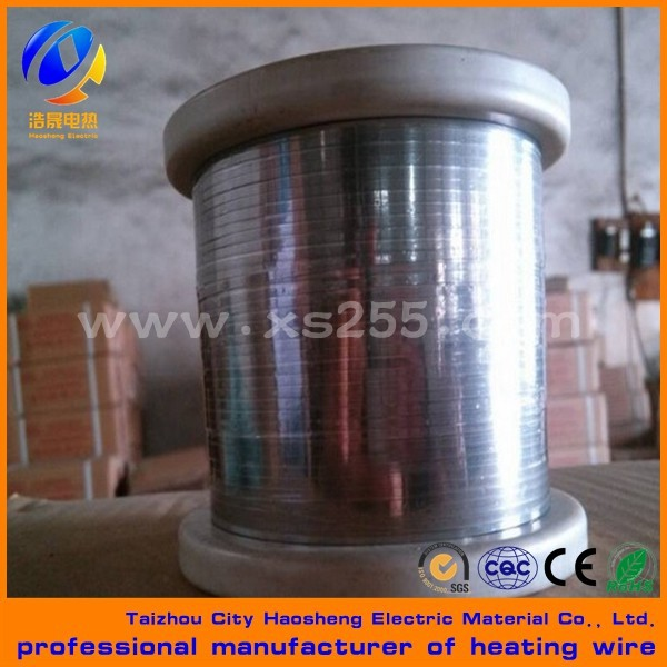 electric wire manufacturers nichrome pure nickel chrome heating flat strip best price flat resistance belt