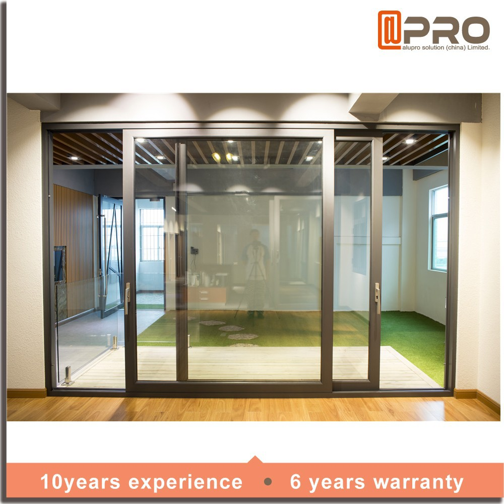 New Products China Tempered Glass Sliding Door 3 Panel Sliding Glass