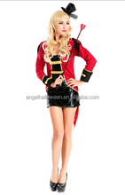 Ringmaster circus lion tamer showgirl sexy fancy dress outfit costume with hat AGC3416