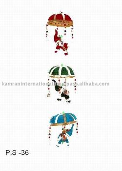 Elephant Wall Hanging 3 elephant traditional indian fabaric wall hanging decoration