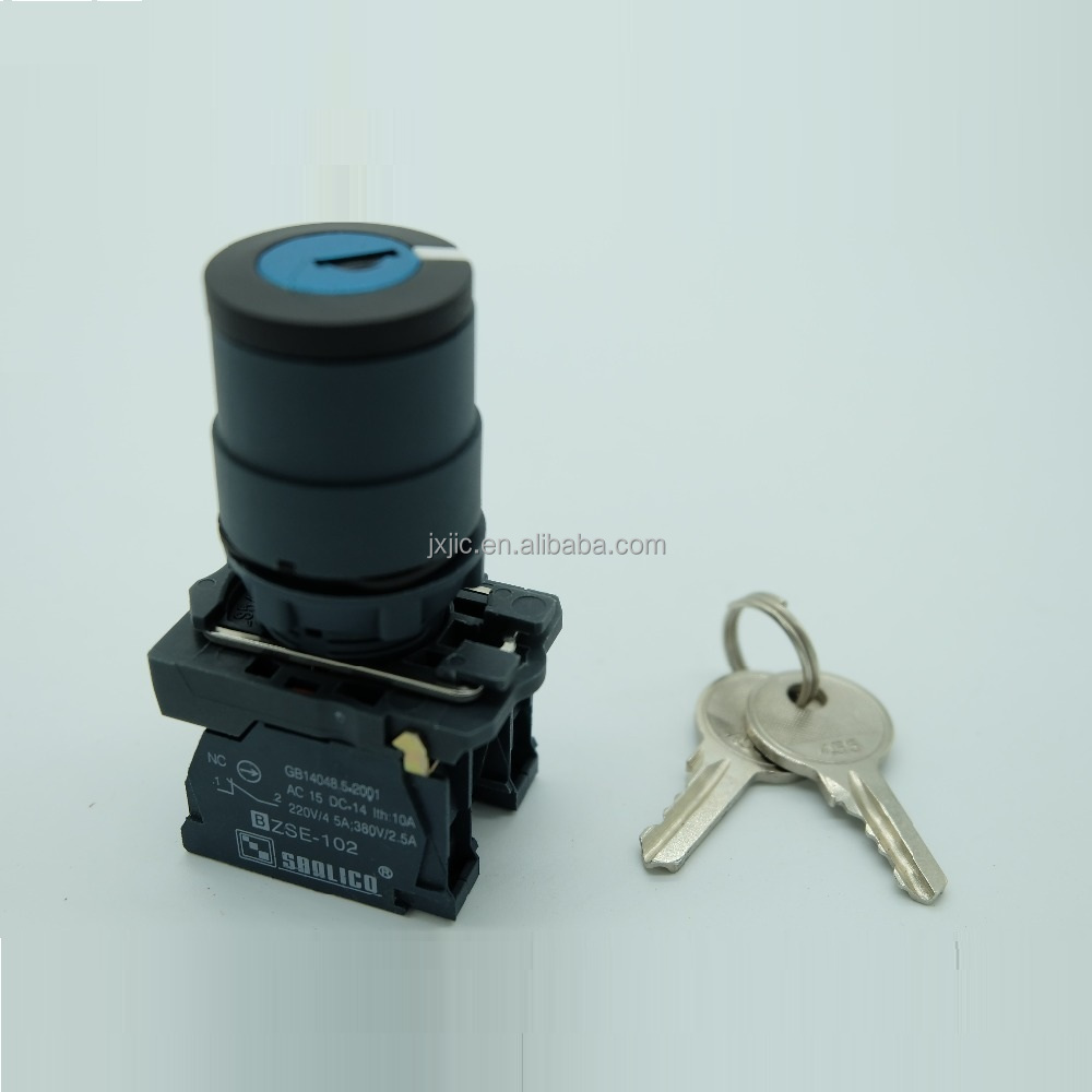 waterproof rotary selector key lock switch two or three position SB5-AG25 (LA68S XB5)